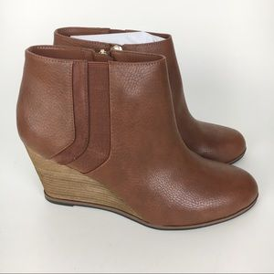 Dr. Scholl's Shoes - NEW Dr Scholls Wedge Ankle Boots Copper Brown 9.5